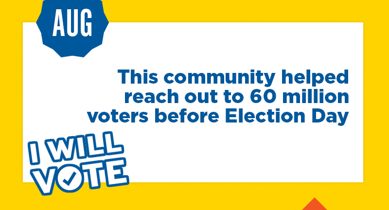 This community helped reach out to 60 million voters before Election Day
