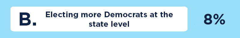 B. Electing more Democrats at the state level.