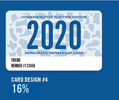 2020 DNC Membership Card #4: 2020 States Background