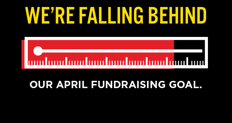 Fundraising goal thermometer