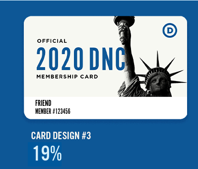 2020 DNC Membership Card #3: Statue of Liberty
