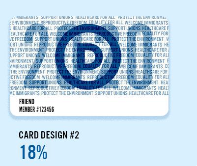 2020 DNC Membership Card #2: 2020 D Logo