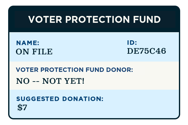 Your Voter Protection Fund record