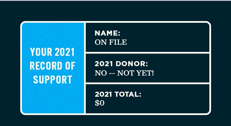 Your 2021 supporter record