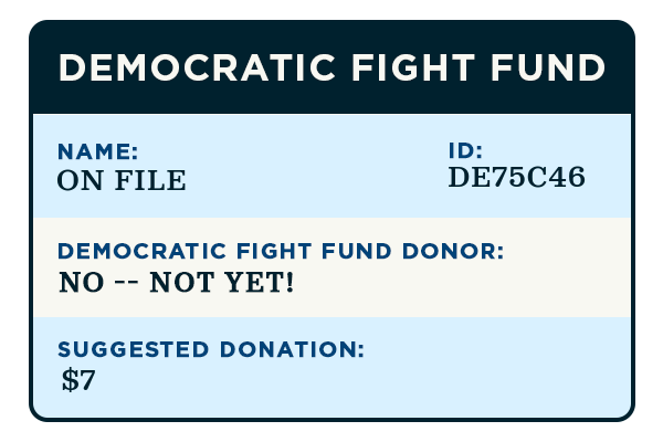 Your Democratic Fight Fund record