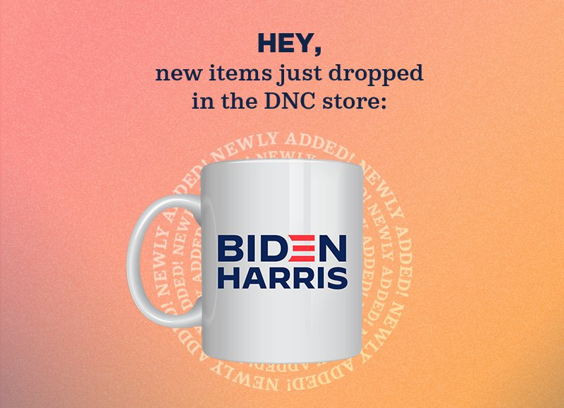 New items just dropped  in the DNC store:
